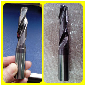 High Speed 2 Flute Tungsten Carbide Straight Shank Tipped Drill Bits pictures & photos