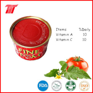 Canned Tomato Paste 400g 22-24% Brix pictures & photos