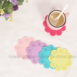 Rose Silicone Coffee Cup Coaster pictures & photos