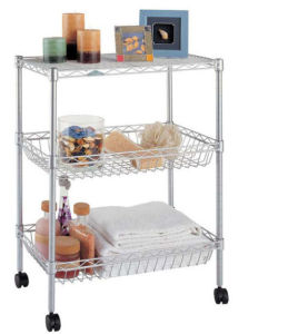 Adjustable Metal Kitchen Basket Trolley Rack (BK603590B3C) pictures & photos
