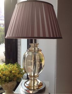 Phine 90234 Clear Crystal Table Lamp with Fabric Shade pictures & photos