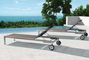 Patio Stainless Steel Sling Sunlounge pictures & photos