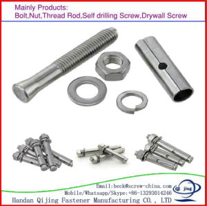 White Zinc Anchor Expansion Bolts Concrete Drop pictures & photos