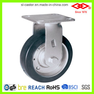 200mm Swivel Plate Black Rubber Heavy Duty Castor (P701-11F200X45) pictures & photos
