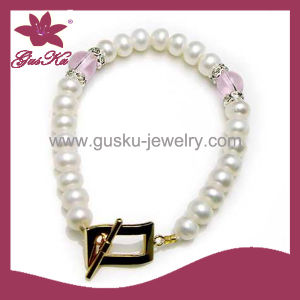 Fashion Jewelry High Quality Pearl Bead Bracelet (2015 Plb-012) pictures & photos