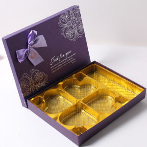 Hot Stamping Craft Luxury Leather Chocolate Boxes with Custom Logo pictures & photos