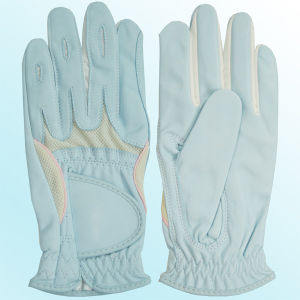 Ladies′ Pink Indonisia Cabretta Golf Glove (CGL-24) pictures & photos
