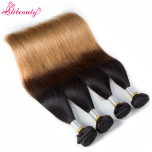 3 Tone Brazilian Virgin Hair Straight Hair Weave Bundles pictures & photos