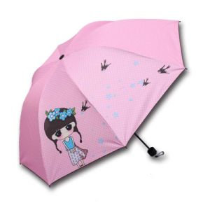 High Quality Printing Logo Give Away Carton Mini Foldable Umbrella pictures & photos