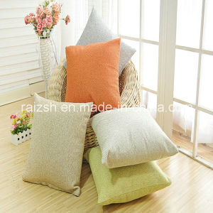 Simple Plain Linen Pillow Cover pictures & photos