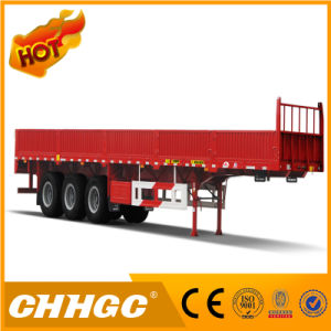3 Axles High Strength Steel Side Wall Semi-Trailer pictures & photos