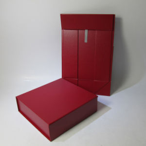 Red Folded Paper Gift Box with Flap pictures & photos