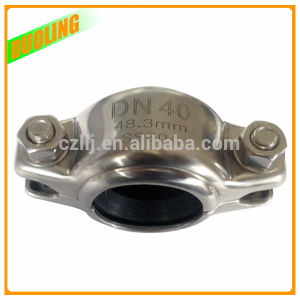 Stainless Steel Pipe Half Victaulic Grooved Flexible Rubber Coupling pictures & photos
