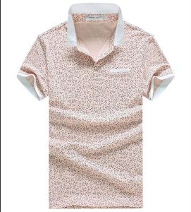 Great Quality Slim Fit Casual Floral Polo T-Shirt for Men pictures & photos