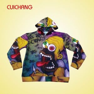 Wholesale Polyester Heat Transfer Printing Custom Design Fashional Good Quality Hoodies Lmwy-003 pictures & photos