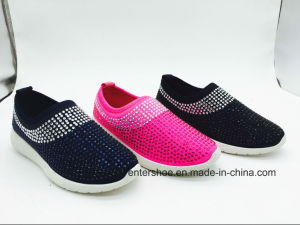 Casual Women Sports Footwear with Rhinestones (ET-JRX160399W) pictures & photos