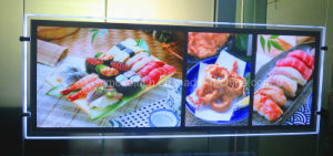LED Menu Display Acrylic Board LED Light Box for Advertising (CDH03-A3L+2xA4P) pictures & photos