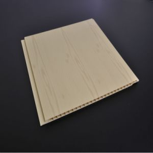 Wooden Color Flat PVC Panel Ceiling Wall Panel with Printing (6/7/7.5*250mm, ISO9001) pictures & photos