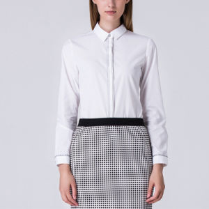 Lady Long Sleeve Shirt and Skirt Patterns for Ladies Blouse pictures & photos