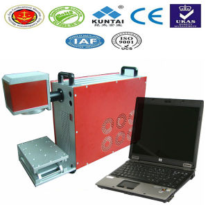 20W Small Fiber Laser Marking Machine for Metal Pens Hoses Kt-LFP20 pictures & photos