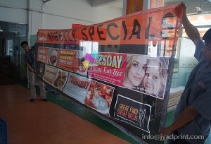 Cheap Price Free Design Fence Mesh Advertising Banner With Printing pictures & photos