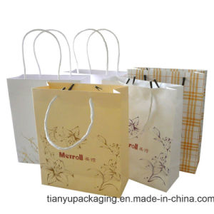 Twist Handle Paper Bag with Logo Print pictures & photos