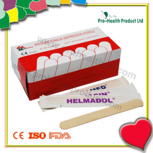 Disposable Wooden Tongue Depressor with a Paper Box pictures & photos