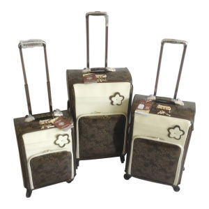 PU Leather Bags Luggage Trolley Case Suitcase Jb-D005 pictures & photos