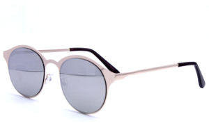 Metal UV400 Sunglasses, Mens Round Sunglasses pictures & photos