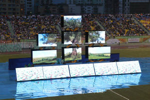 P18.25 Portable LED Curtain Screen for Advertisement and Exhibition pictures & photos