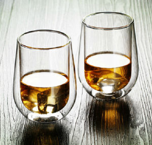 Hand-Made Mouth-Bolwn Double Wall Whisky Cup Whisky Crystal Glass Cup pictures & photos