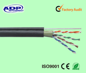 Double Outer Jacket UTP Cat5e LAN Cable with Steel Wire pictures & photos