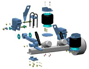 Air Bag Suspension/Semi Trailer Air Spring Suspension/Truck Lift/Unlift Suspension pictures & photos