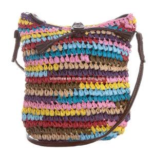 Multicolored Straw Shoulder Bag