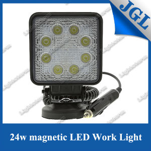 "Super Bright New 4"" 24W Magnet Work Light 9-32V LED Work Lamp 6500k 4X4 ATV Tractor Train Bus Spot/Flood Beam LED Driving Light pictures & photos"
