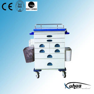 High Quality Steel Painted Hospital Medical Emergency Trolley (N-7) pictures & photos