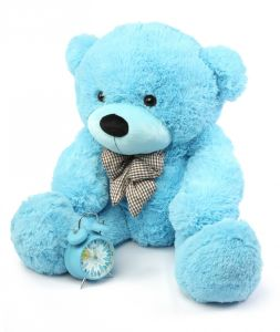 Super Soft and Stuffed Blue Plush Teddy Bear pictures & photos