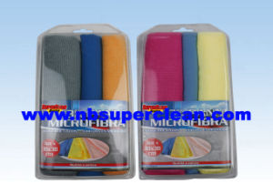 3 Different Function and Material Microfiber Cleaning Cloth (CN3601-42) pictures & photos