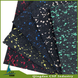 Wholesale Eco-Friendly Recycle Rubber Mat Rolls with Colorful Dots pictures & photos