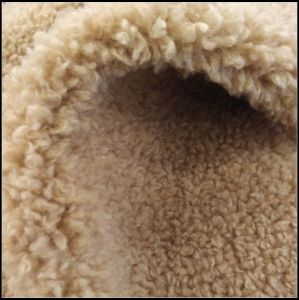 White Tip Color Artificial Sheep Fur for Garment Collar pictures & photos