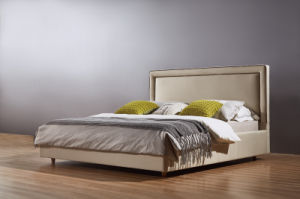 Latest Fashion Double Bed, Fabric Bed (A21) pictures & photos