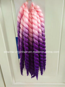 2t Pink/Purple Mambo Braids 10 Inch Synthetic Dreadlock Hair