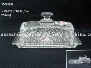 Clear Crystal Glass Butter Plate (NYP-HG01) pictures & photos