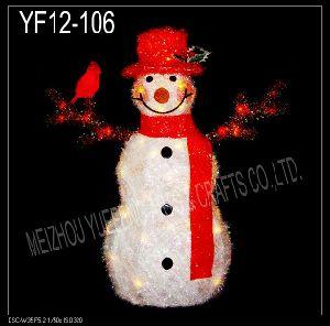White Tinsel Snowman (YF12-106)