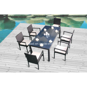 Wicker Dining Furniture for Outdoor with 6 Chairs / SGS (8217) pictures & photos