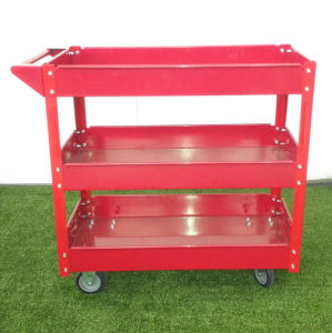 Tool Cart Two or Three Layers Stocking Cart with Wheels pictures & photos