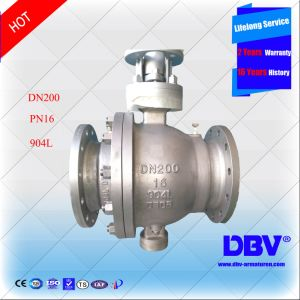 Alloy Ss904L Flanged Trunnion Mounted Ball Valve