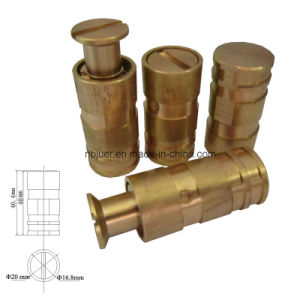 Pool Safety Cover Parts-Male Insert Brass (TWESS#19)
