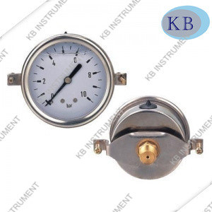 63mm U-Clamp Type Oil Filled Pressure Gauge pictures & photos