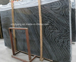 Antique Wood Black Marble Slab for Tiles / Countertop pictures & photos